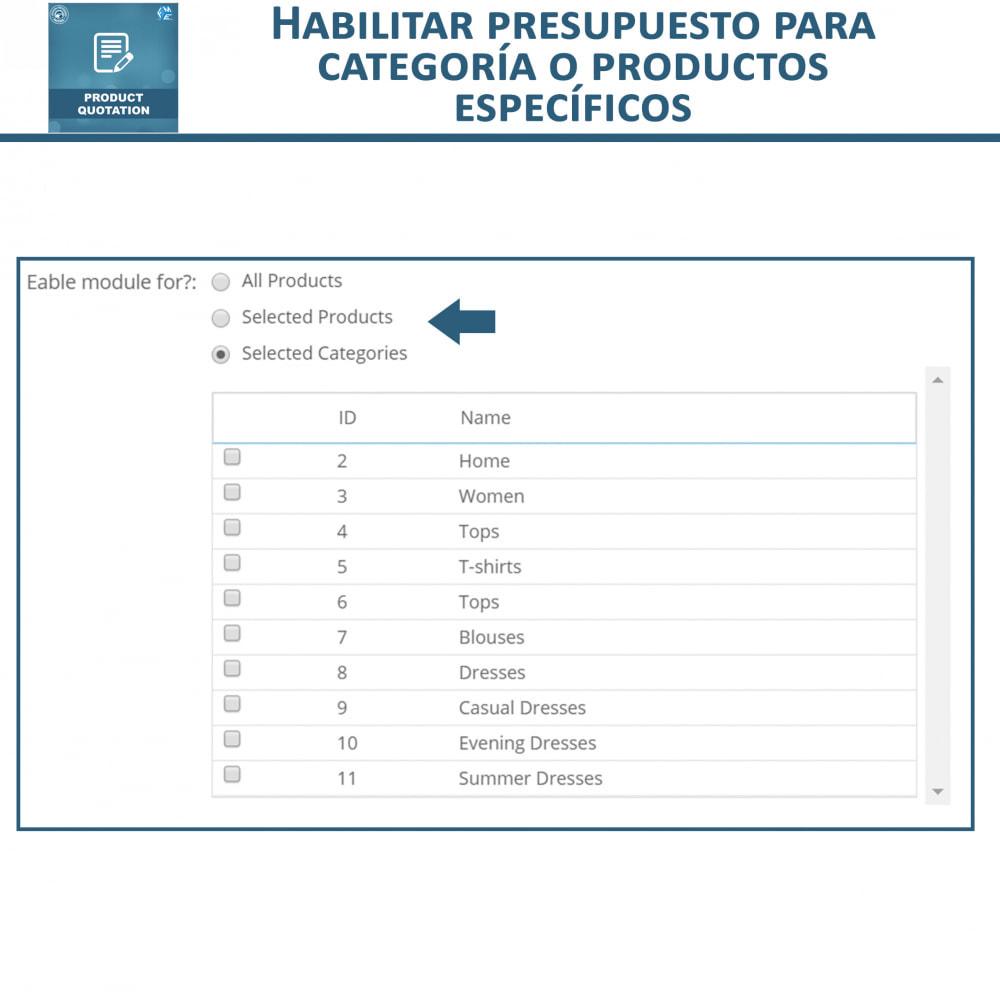 module - Presupuestos - Cotización de Producto - Permitir al Cliente Cotizar - 8