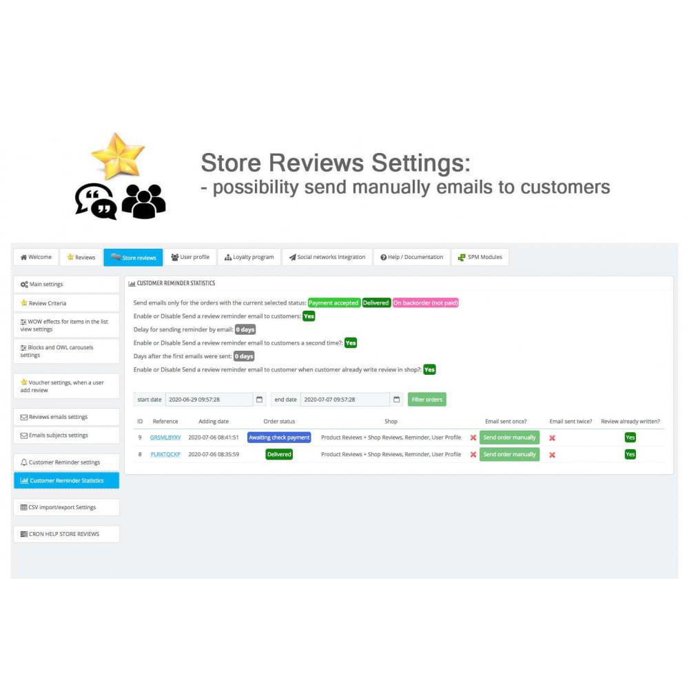 module - Recensioni clienti - Product Reviews+Shop Reviews, Loyalty Program, Reminder - 42