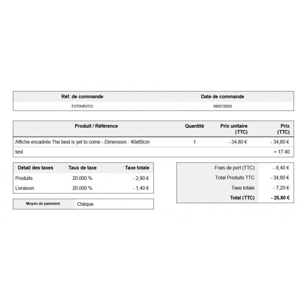 module - Contabilidad y Facturas - Deslizamiento automático pedidos pedidos cancelados - 2