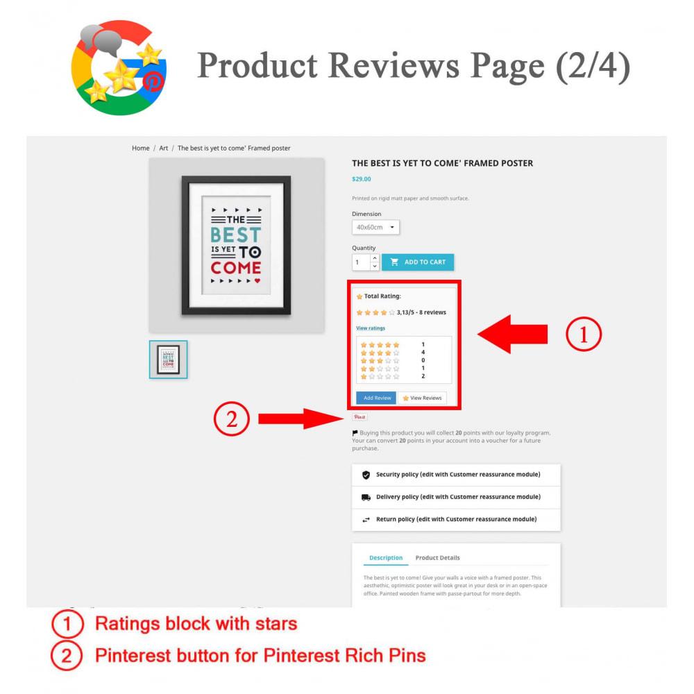 module - Avis clients - Produit+Boutique Avis, Points fidélité, Google Snippets - 3