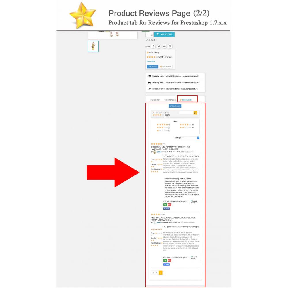 module - Widgets réseaux sociaux - Produit Avis + Programmes fidélité + Profil utilisateur - 2