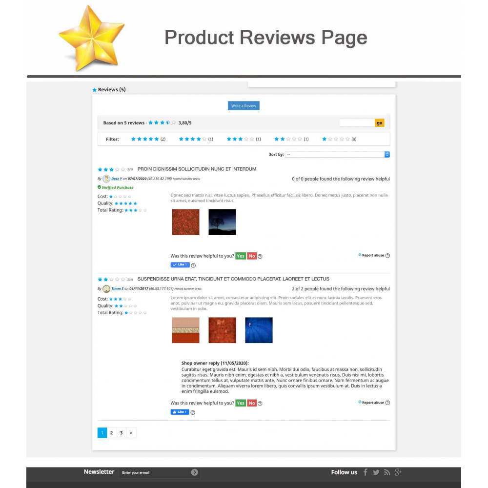 module - Sociale Widgets - Product Reviews PRO + Loyalty Program + User Profile - 6