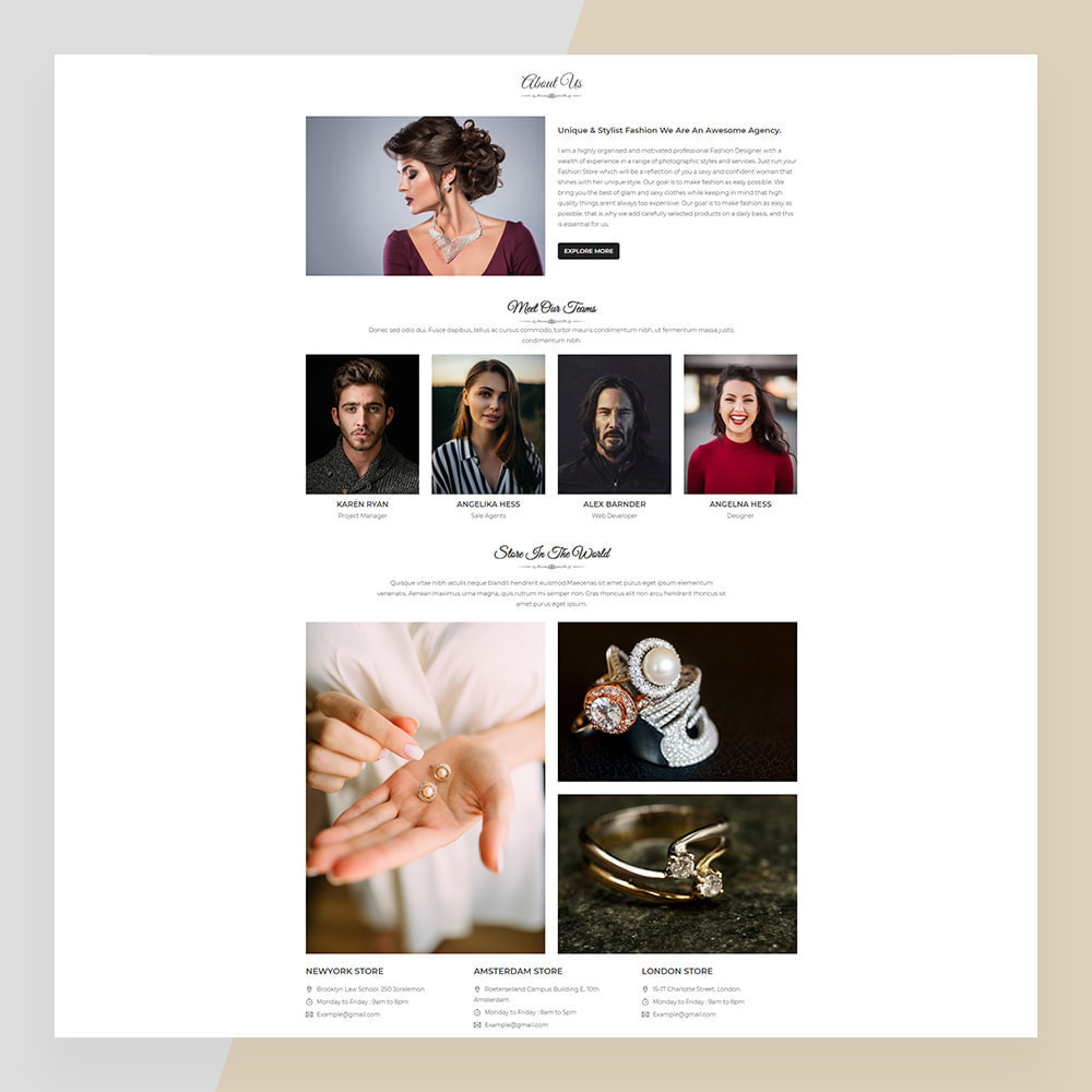 theme - Biżuteria & Akcesoria - Emerald Jewelry - Jewellery & Accessories Template - 3
