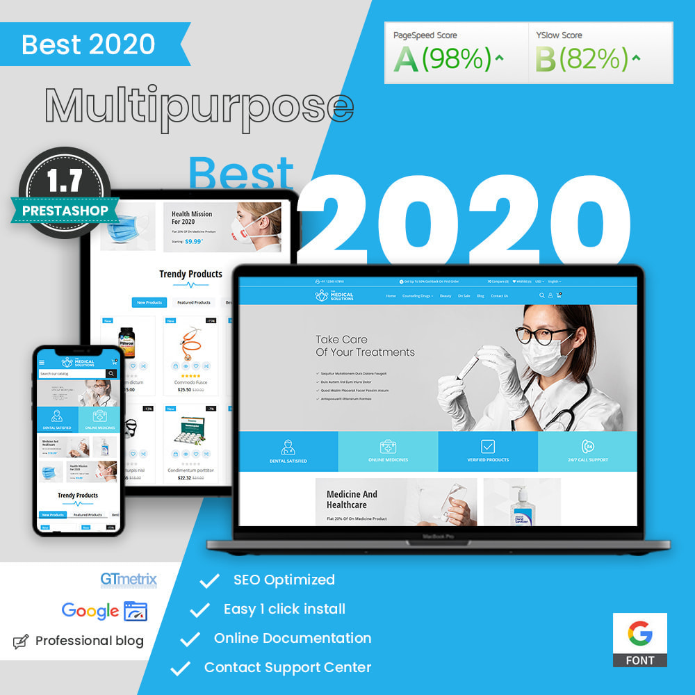 theme - Saúde & Beleza - Medical Solutions - Medical and Medicine Store Template - 1
