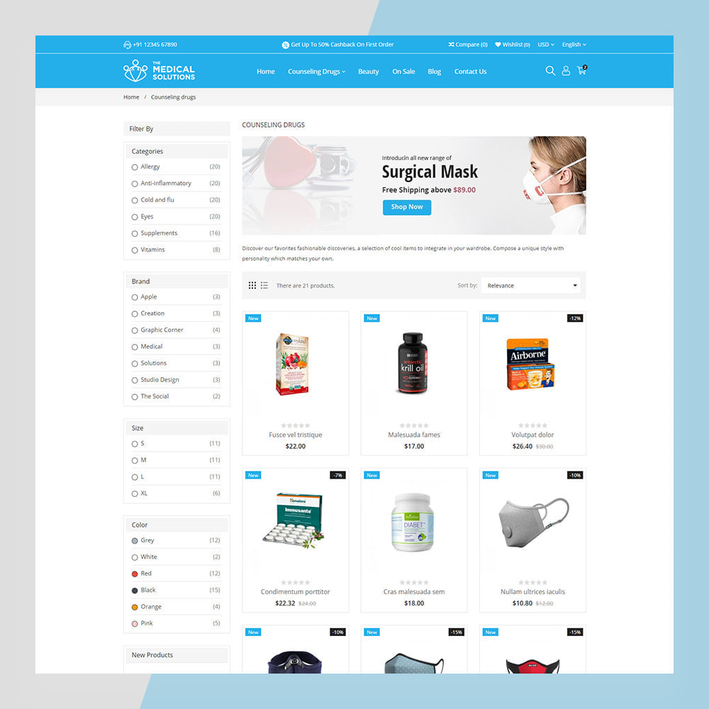 theme - Saúde & Beleza - Medical Solutions - Medical and Medicine Store Template - 9