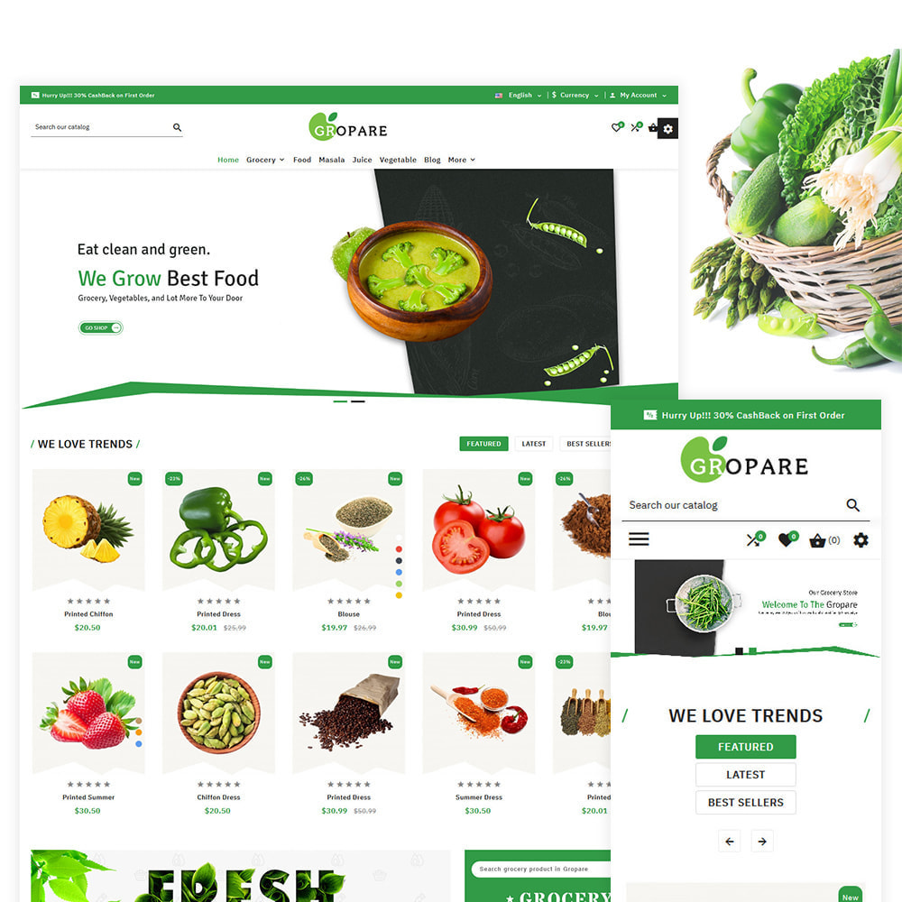 theme - Food & Restaurant - Fropare Fresh Grocery Shop - 1