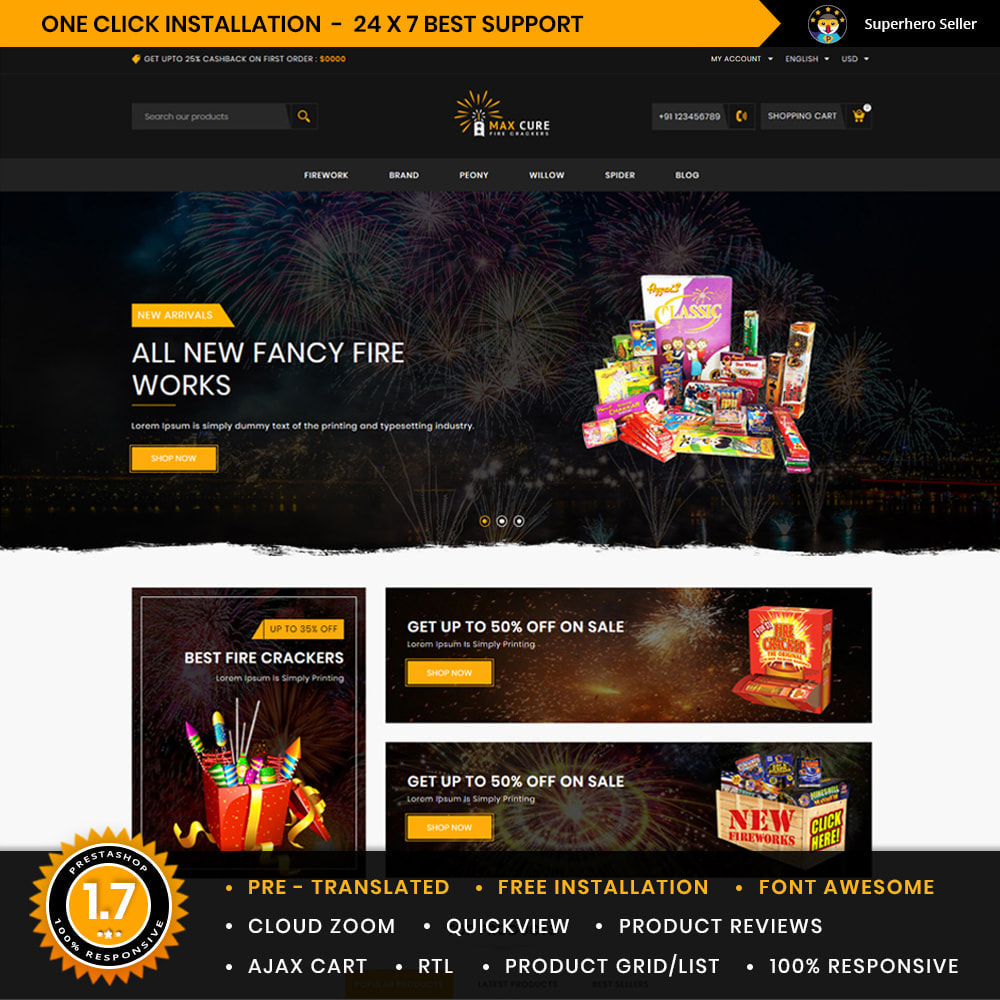 theme - Gifts, Flowers & Celebrations - Maxcure Fireworks Store - 1