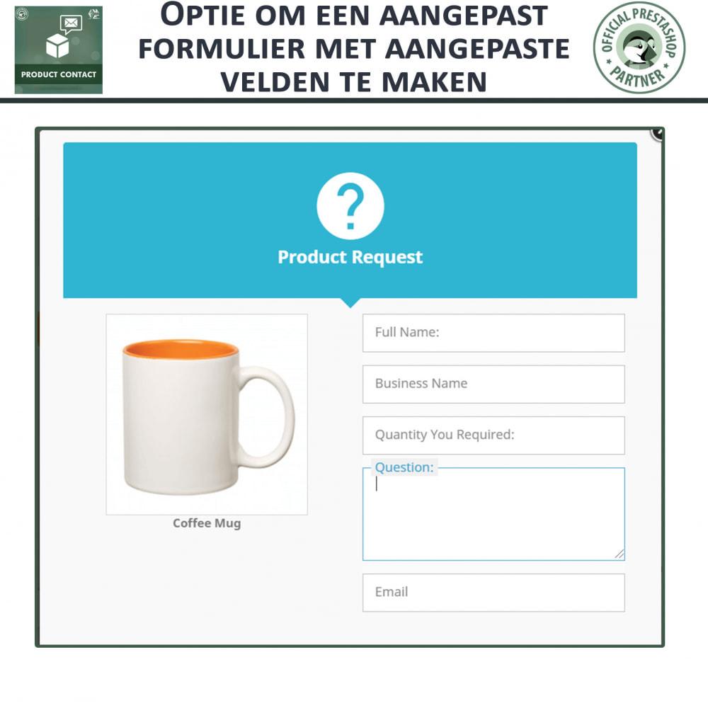 module - Contactformulier & Enquêtes - Product Contact - onderzoek Formulier - 5
