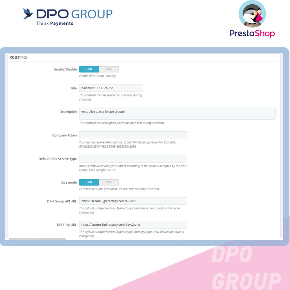 module - Mobile - DPO Group payment - 2