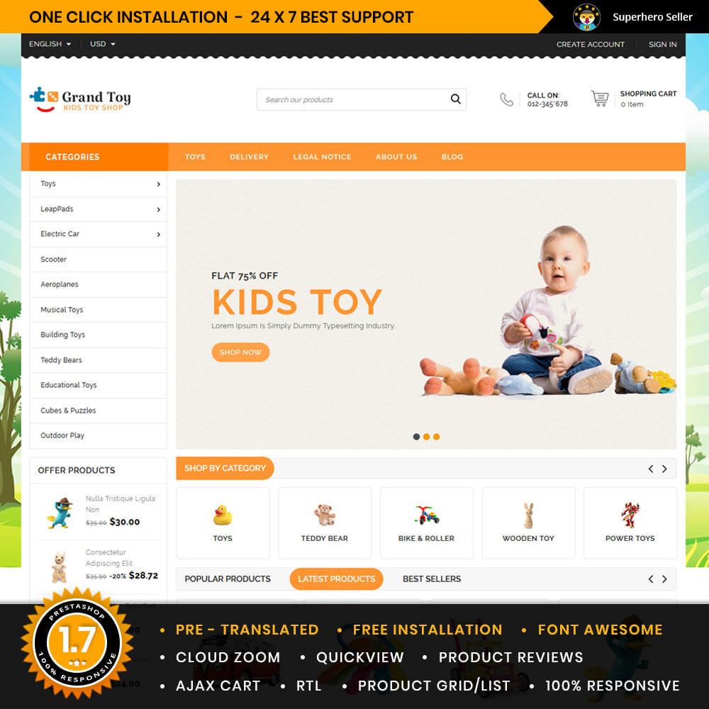theme - Kids & Toys - GrandToy Kids &Toys Store - 1