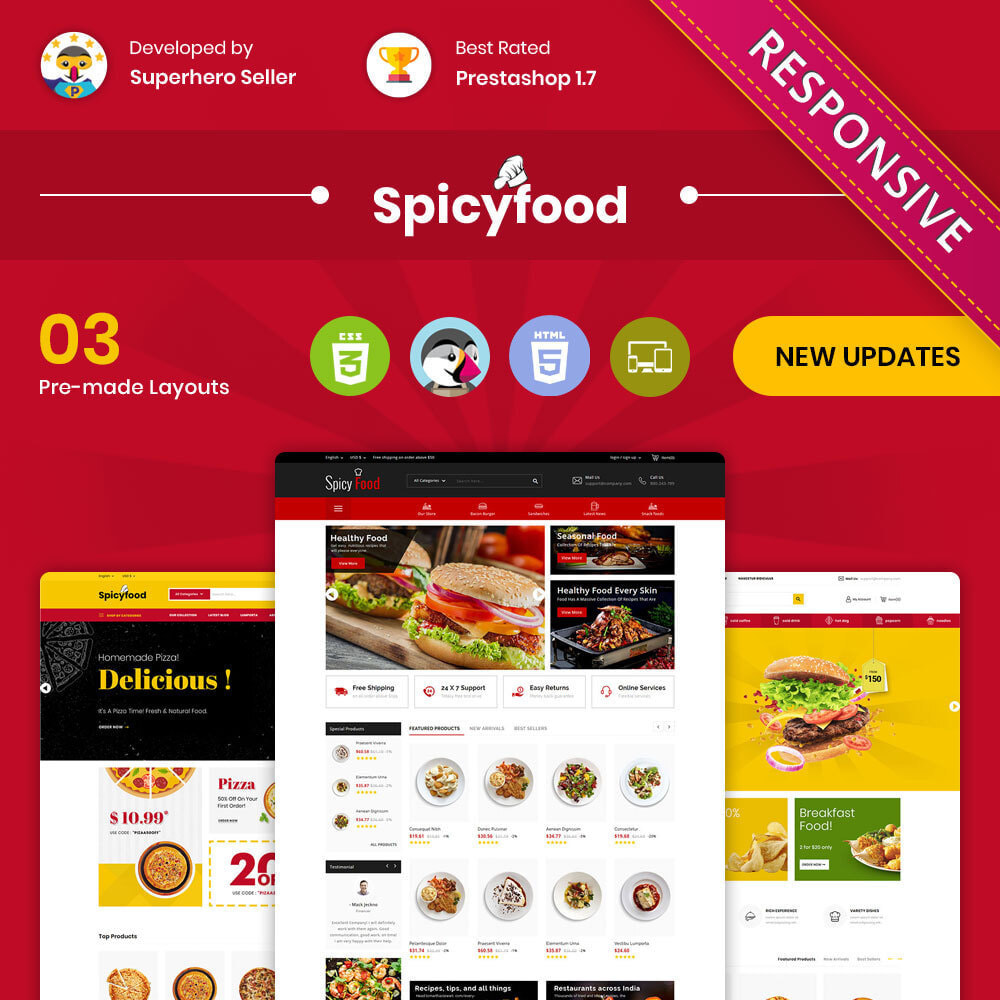 theme - Gastronomía y Restauración - Comida picante - The Mega Food Shop - 1