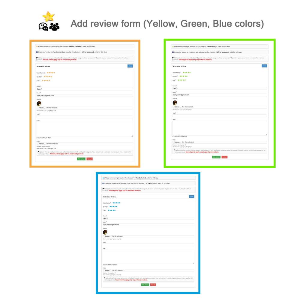 module - Avis clients - Avis sur les produits + Boutique, Programmes fidélité - 3