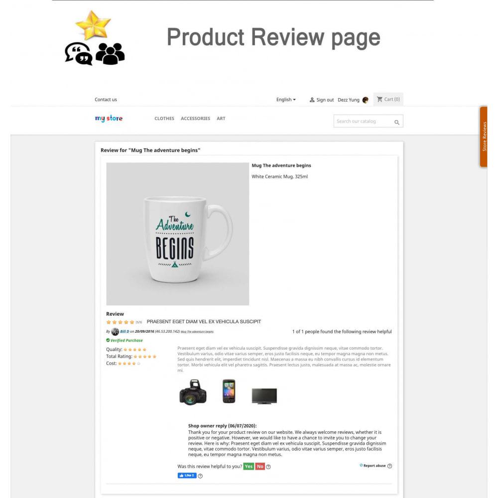 module - Avis clients - Avis sur les produits + Boutique, Programmes fidélité - 7