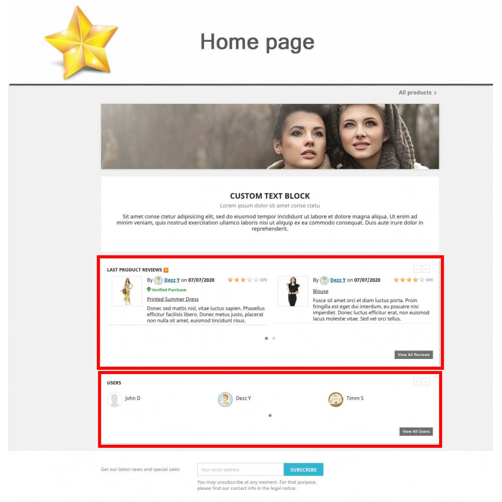 module - Social Widget - Product Reviews PRO + Loyalty Program + User Profile - 8
