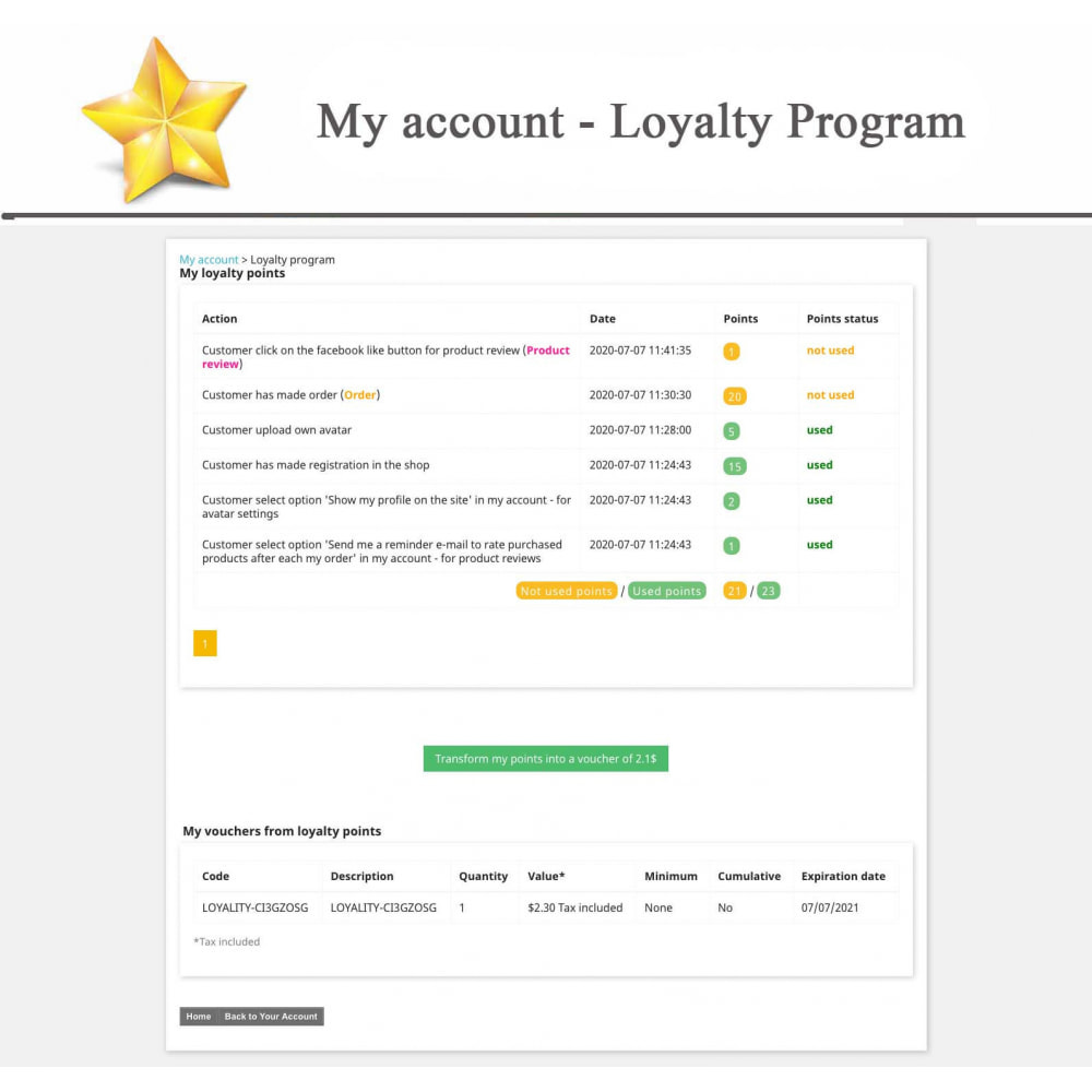 module - Social Widget - Product Reviews PRO + Loyalty Program + User Profile - 17
