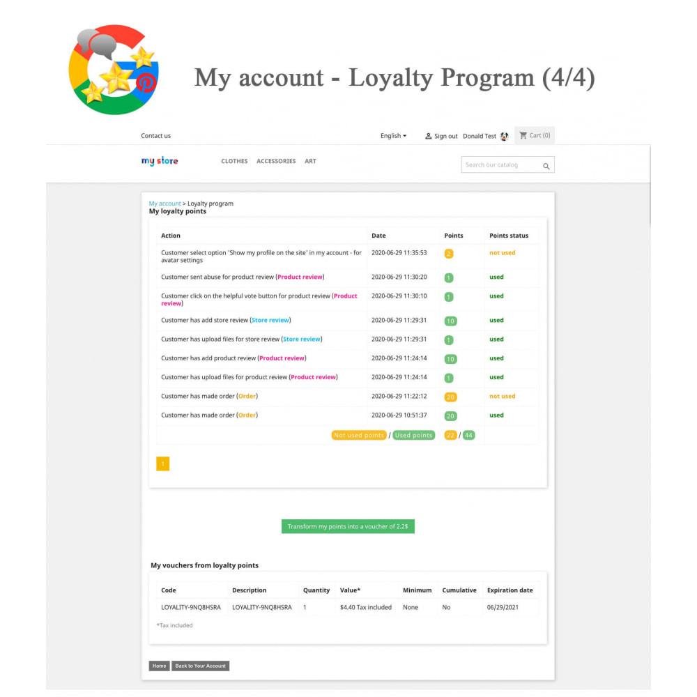 module - Avis clients - Produit+Boutique Avis, Points fidélité, Google Snippets - 26