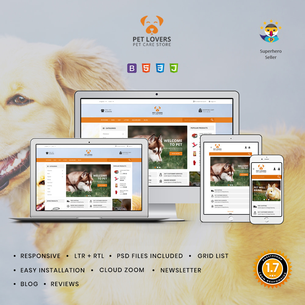 theme - Animais - Petlovers Animals & Pet Shop - 1