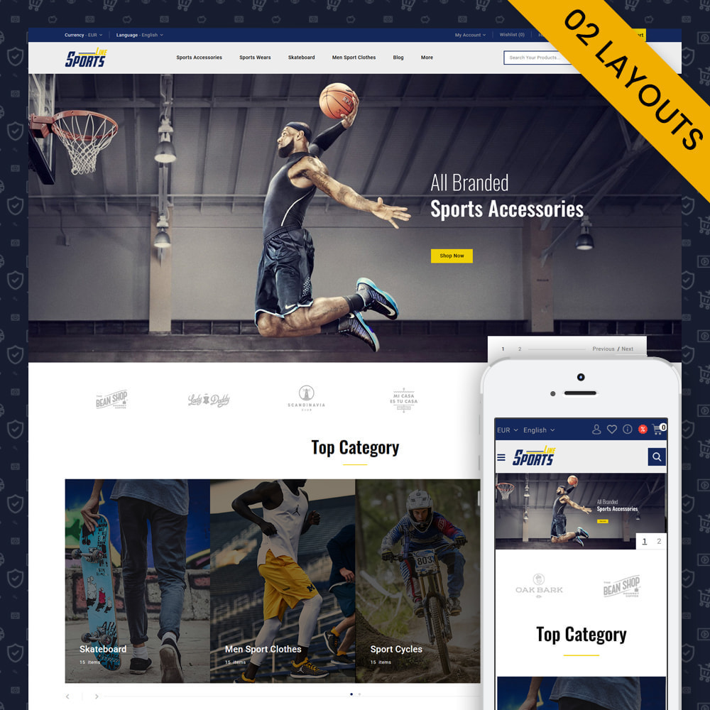 theme - Sports, Activities & Travel - Sports Line Store - 1