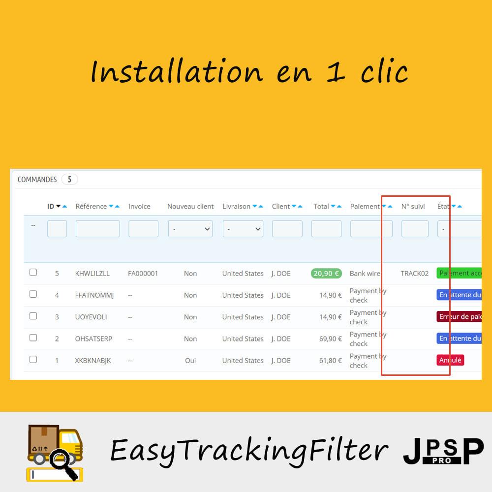 module - Suivi de livraison - Rechercher par numéro de suivi - Easy Tracking Filter - 2
