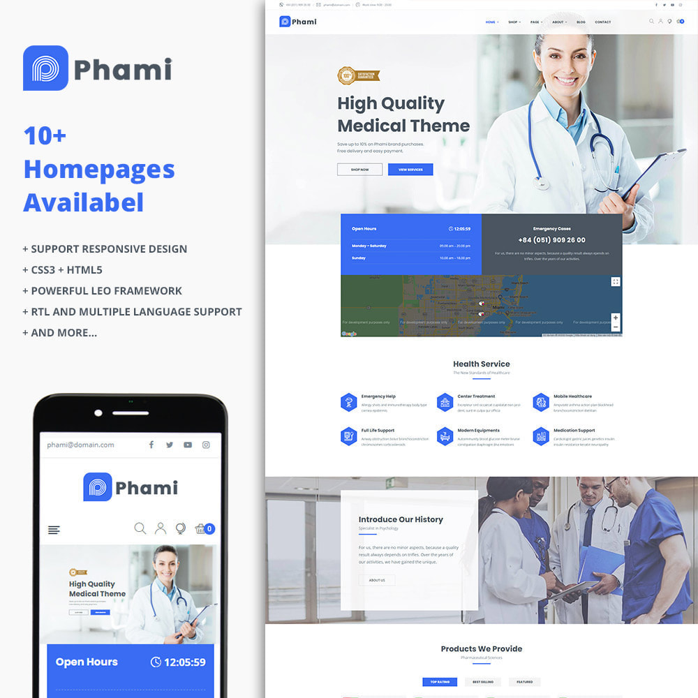 theme - Health & Beauty - Phami - Medical & Health Stores - 1