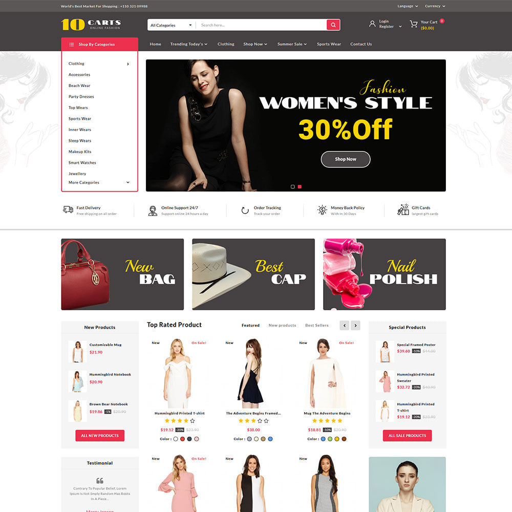 theme - Mode & Schoenen - 10carts online fashion store - 2