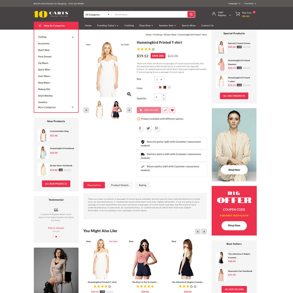theme - Mode & Schoenen - 10carts online fashion store - 4