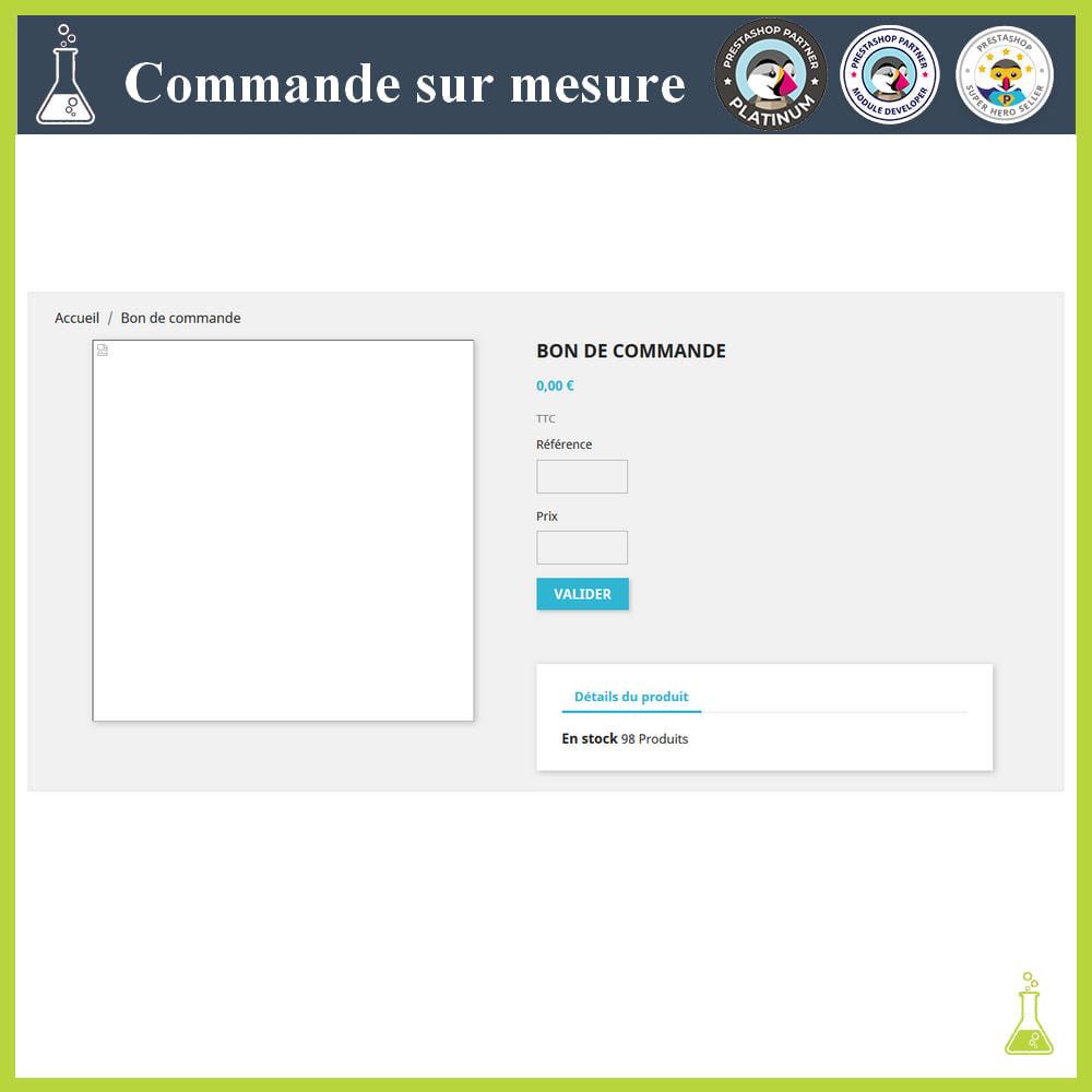module - Gestion des Commandes - Commande sur mesure - 7