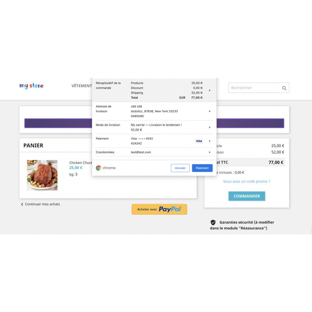 module - Processus rapide de commande - Apple Pay / Google Pay - 1 Click Checkout - 4