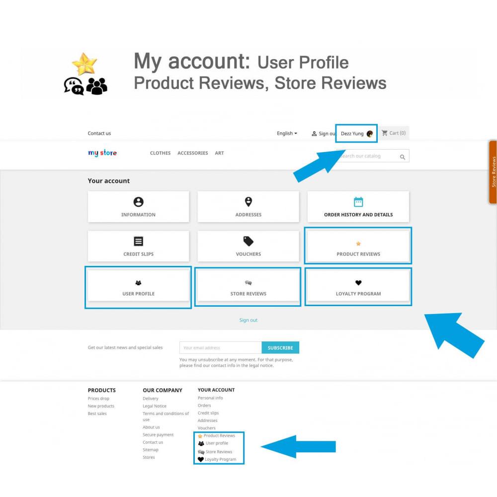 module - Avis clients - Avis sur les produits + Boutique, Programmes fidélité - 19