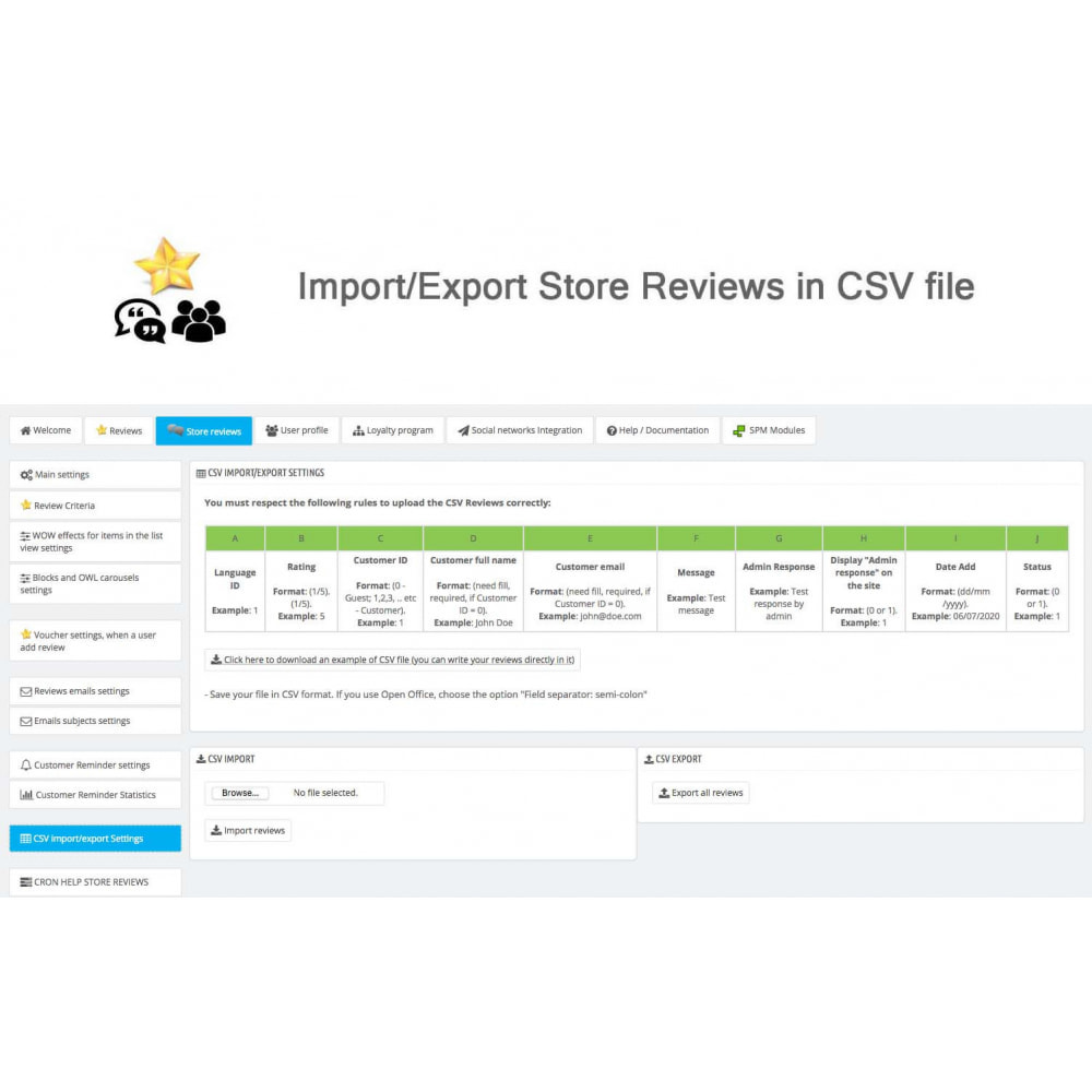 module - Avis clients - Avis sur les produits + Boutique, Programmes fidélité - 43