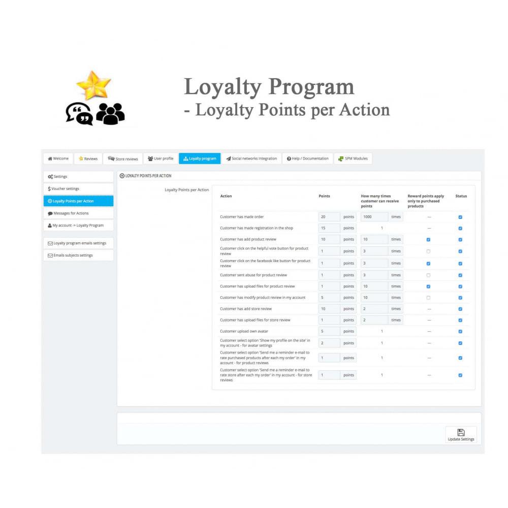 module - Avis clients - Avis sur les produits + Boutique, Programmes fidélité - 47