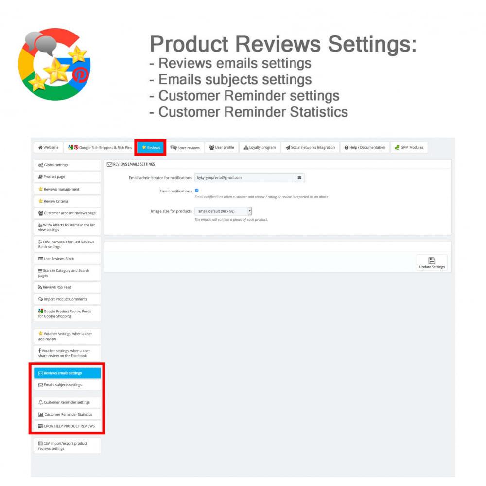 module - Avis clients - Produit+Boutique Avis, Points fidélité, Google Snippets - 41