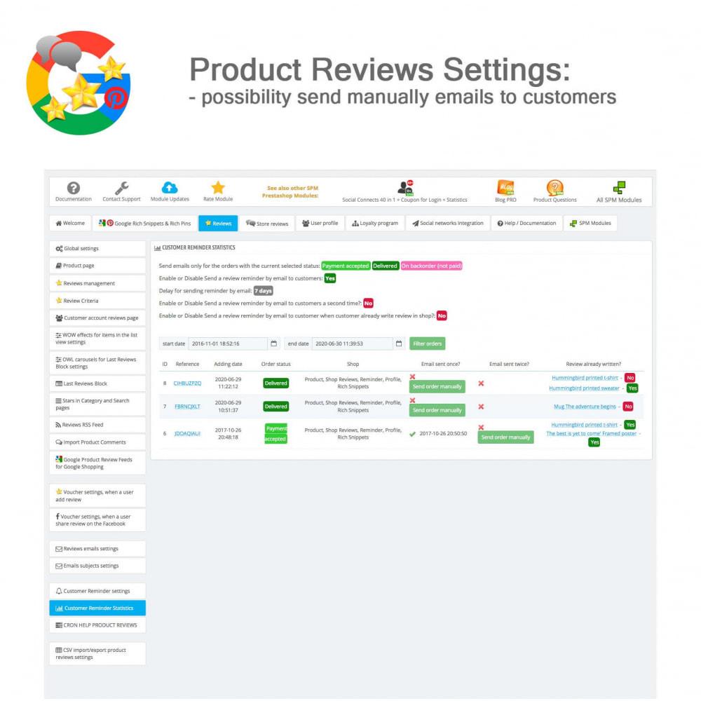 module - Avis clients - Produit+Boutique Avis, Points fidélité, Google Snippets - 43