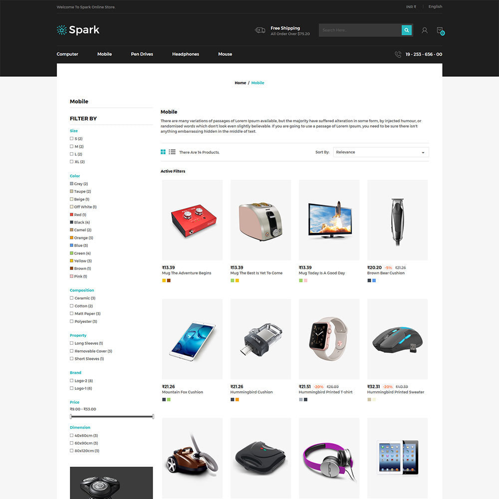 theme - Auto & Moto - Spark Mobile - Negozio di elettronica digitale - 4