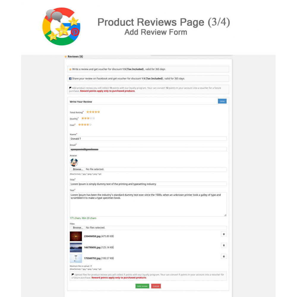 module - Opinie klientów - Product, Shop Reviews, Loyalty Program, Google Snippets - 4
