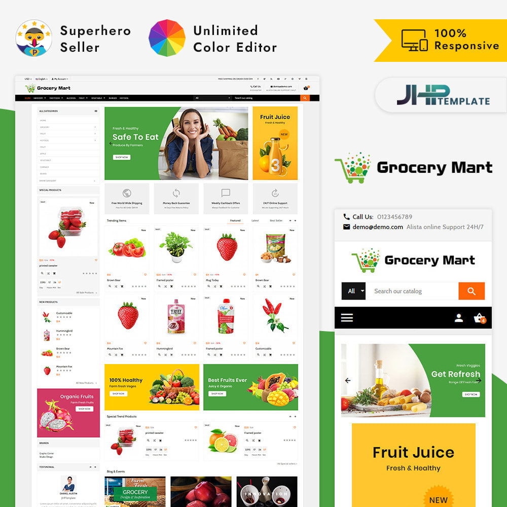 theme - Salute & Bellezza - Grocery Mart – Grocery Mart Big Shop - 1