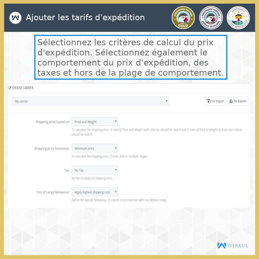 module - Transporteurs - Tarifs d'expédition - 11