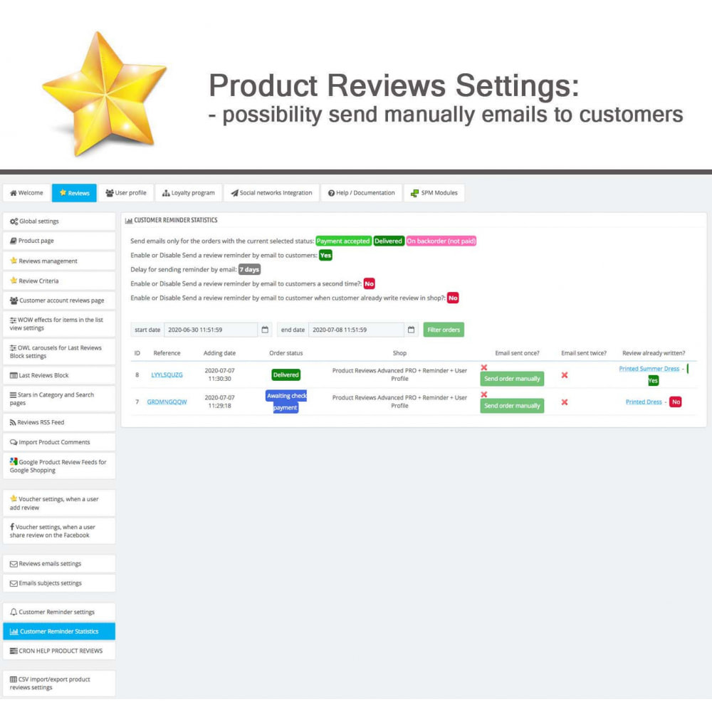 module - Widgets de Redes Sociais - Product Reviews PRO + Loyalty Program + User Profile - 34