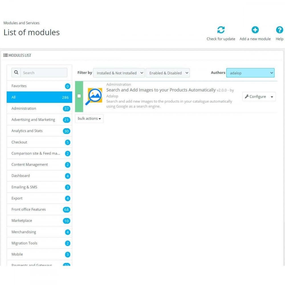 module - Suche & Filter - Upload von Google-Bildern zu Ihren Produkten - 2