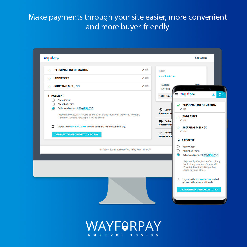 module - Payment by Card or Wallet - WayForPay Payment - 1