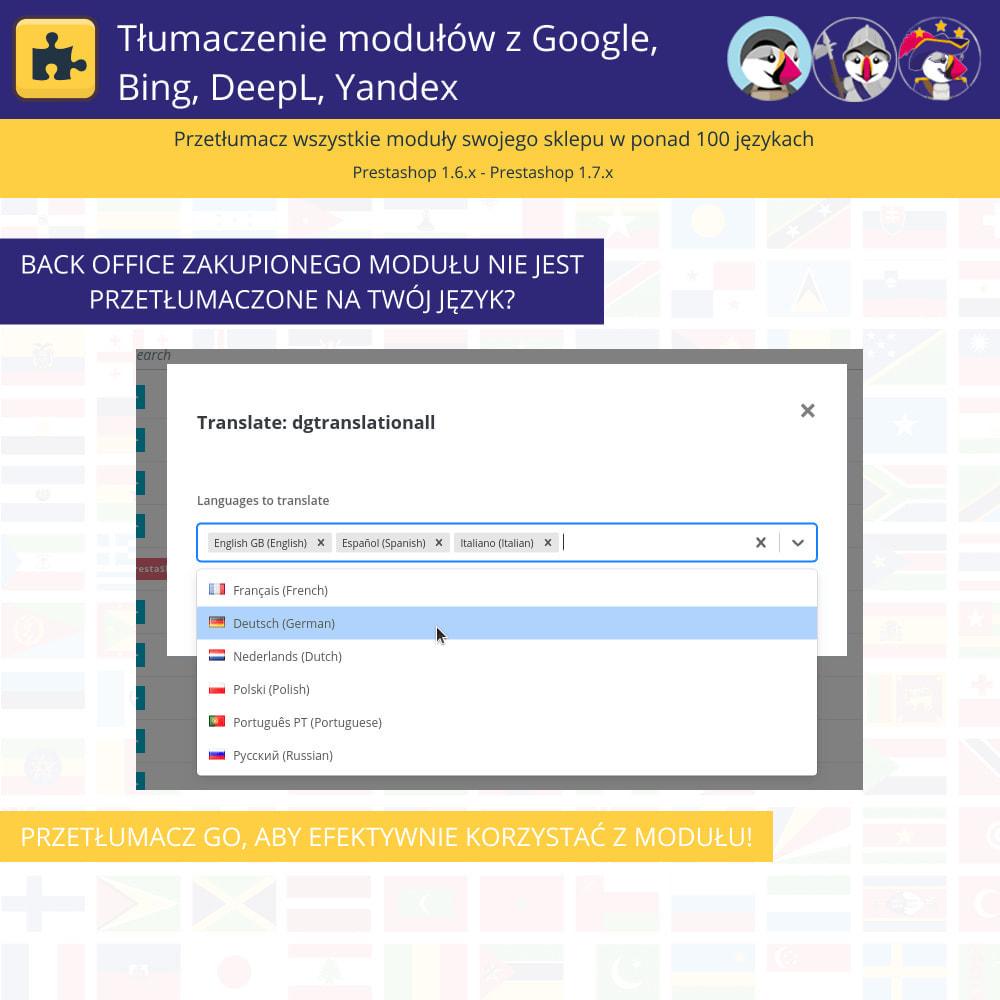 module - Międzynarodowość & Lokalizacja - Translation of modules with Google, Bing, DeepL, Yandex - 6
