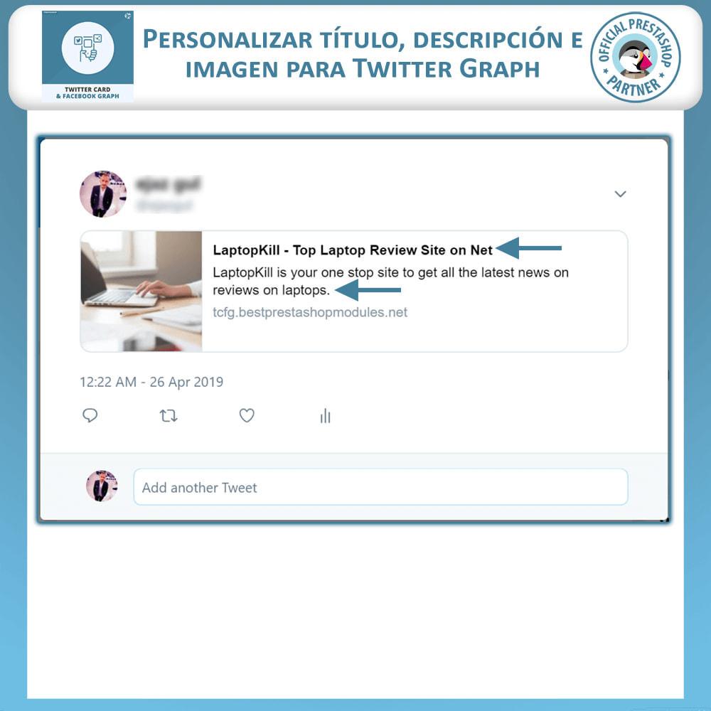 module - Widgets para redes sociales - Gráficos de Redes Sociales y Tarjetas de Twitter - 3
