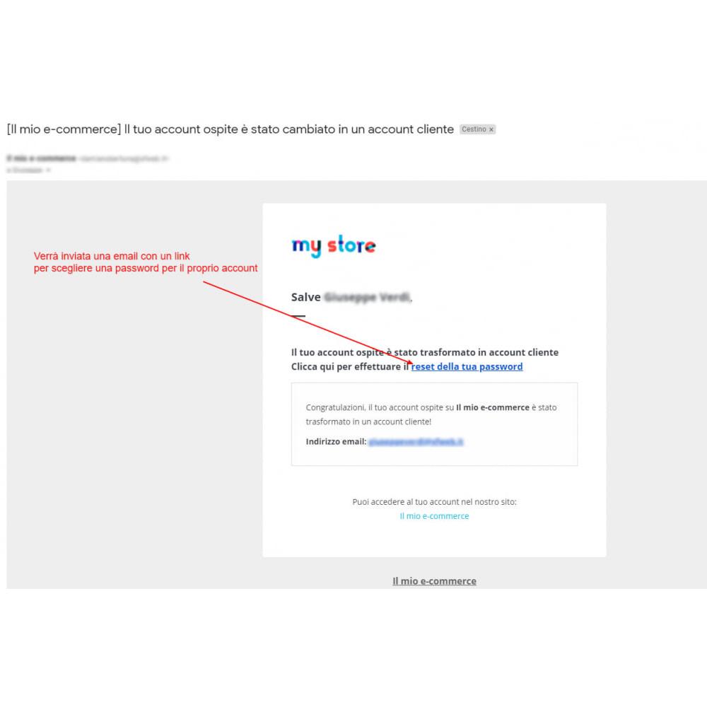 module - Gestione clienti - Trasforma l'account ospite in account cliente - 5