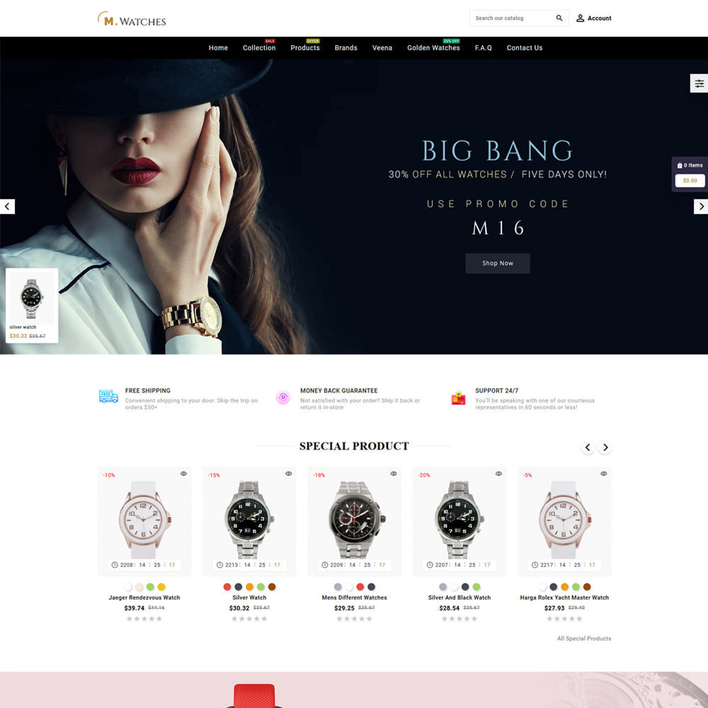theme - Jewelry & Accessories - M. Watches Store - 2