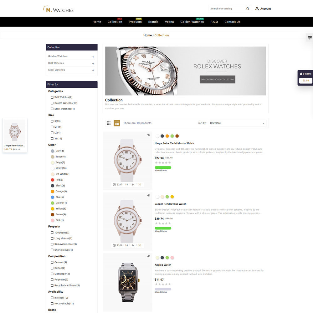 theme - Jewelry & Accessories - M. Watches Store - 4