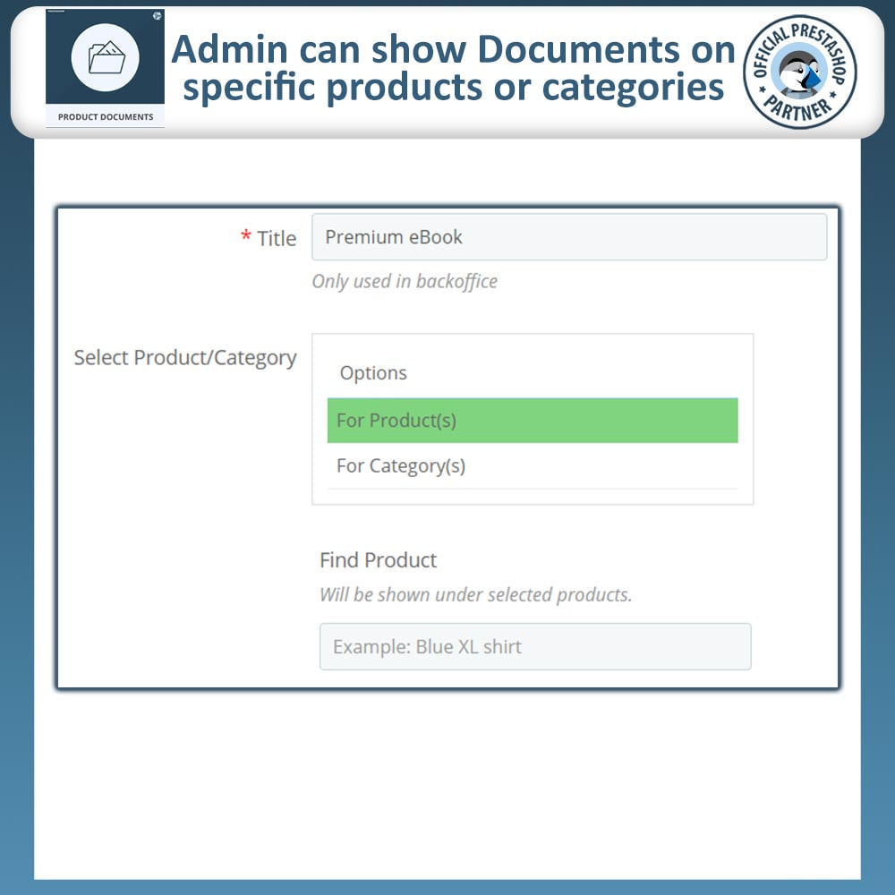 module - Additional Information & Product Tab - Product Documents - 5