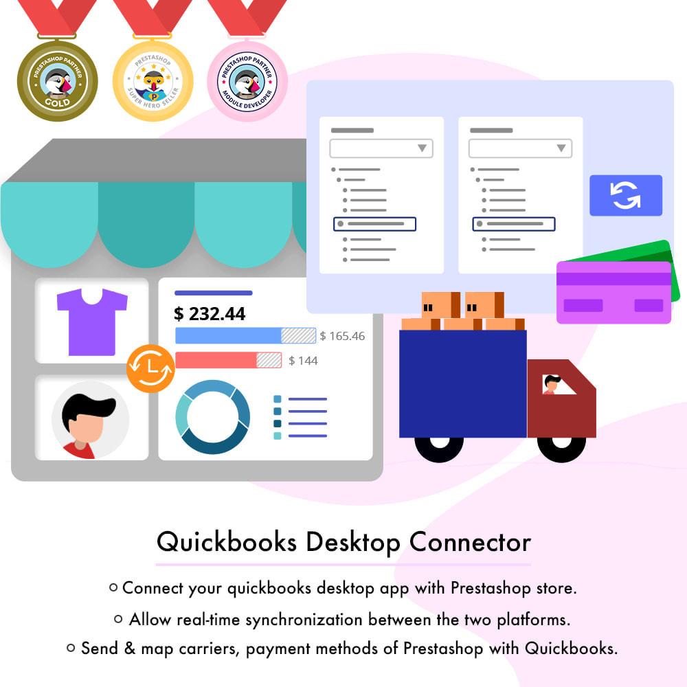 module - Connexion à un logiciel tiers (CRM, ERP...) - Connecteur de bureau QuickBooks - 1