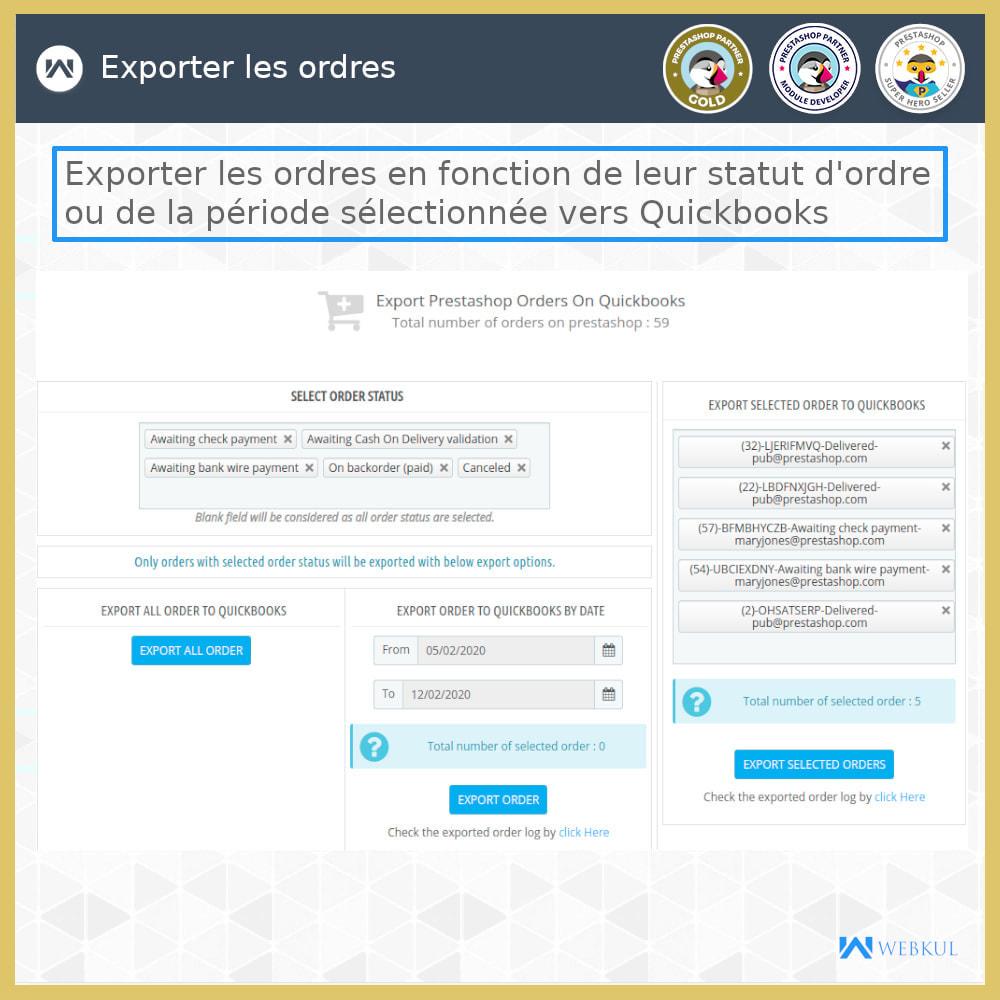 module - Connexion à un logiciel tiers (CRM, ERP...) - Connecteur de bureau QuickBooks - 13