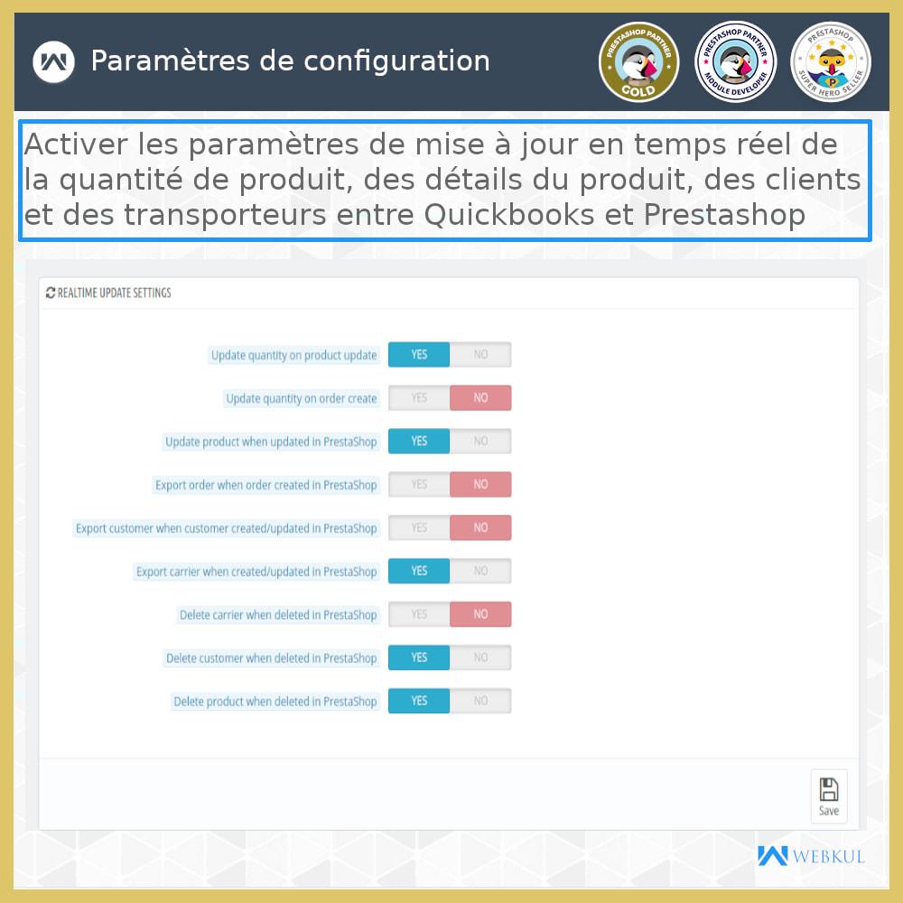 module - Connexion à un logiciel tiers (CRM, ERP...) - Connecteur de bureau QuickBooks - 21