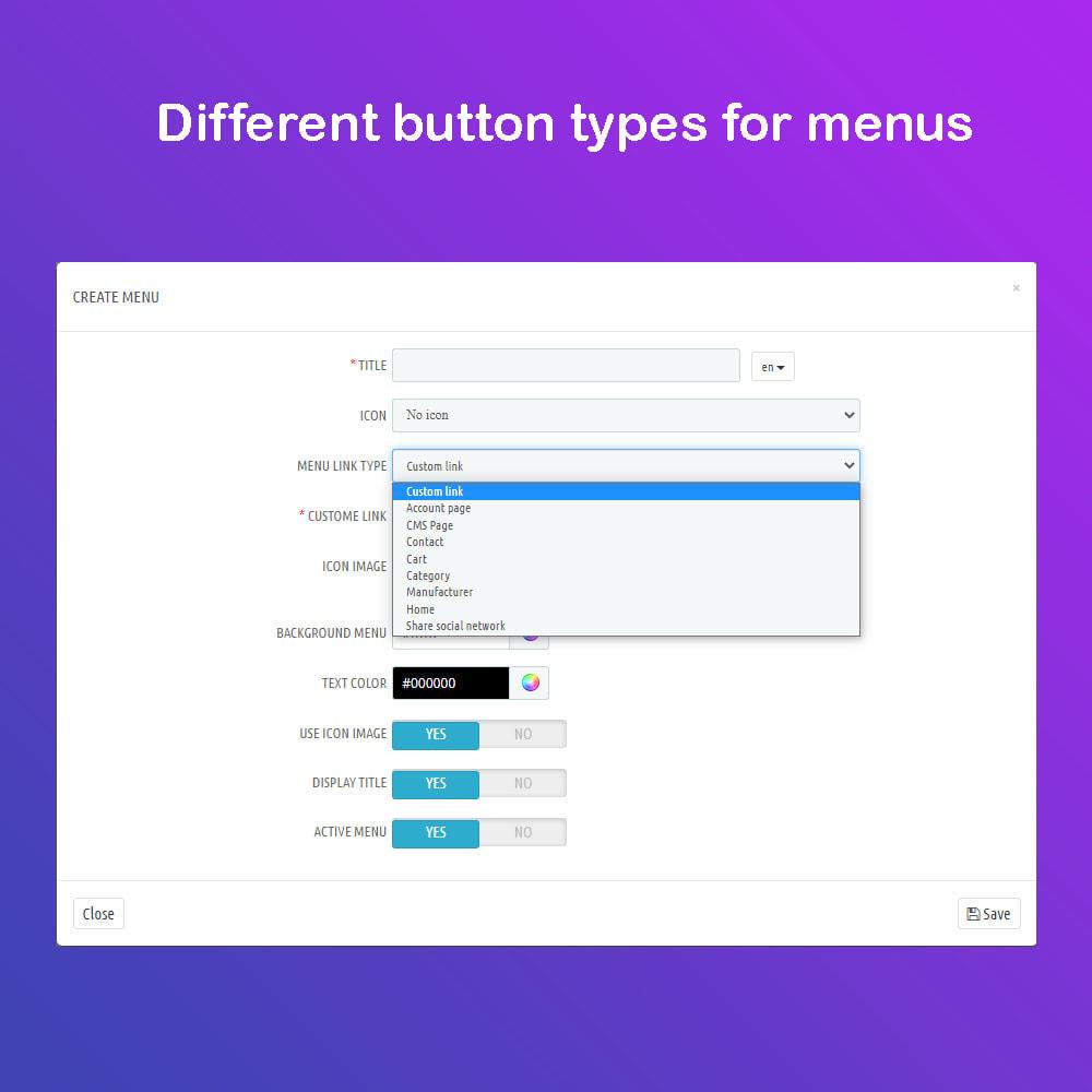 module - Menu - Mobile App Menu & Navigation - 5